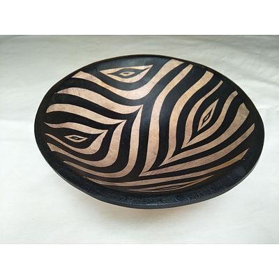 Namibian Zebra print Timber Bowl