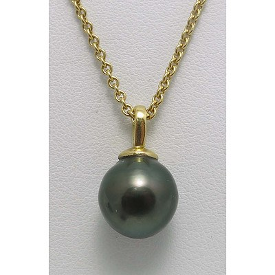 18ct Gold Tahitian Pearl necklace