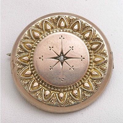 Antique Brooch - set with Diamond