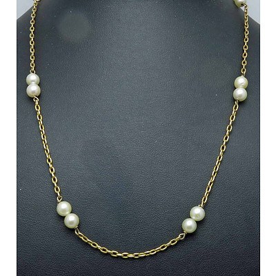 18ct Gold Pearl Necklace