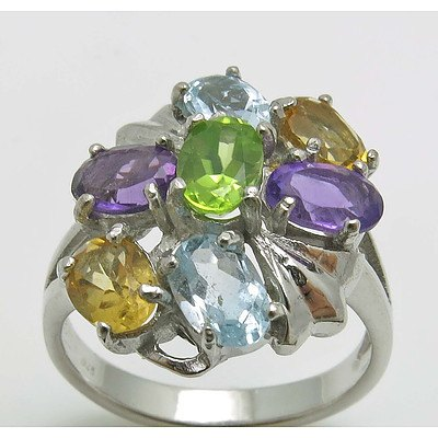 Sterling Silver Natural Gem Ring