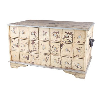 Substantial Rustic Chest of Forty Two Drawers