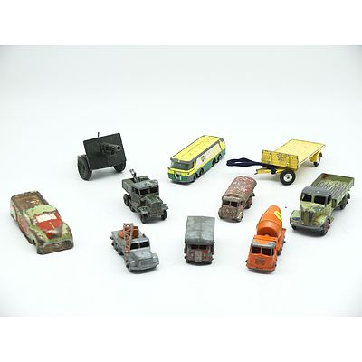 Group of Vintage Model Cars Including Lesney, Dinky and More