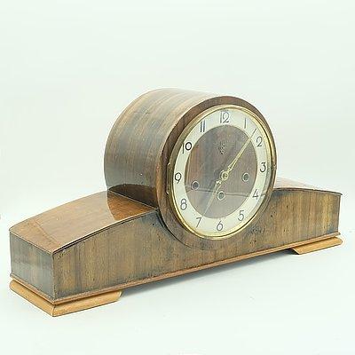 Vintage German EJU Mantel Clock
