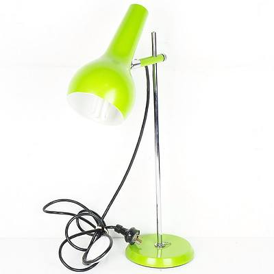 Retro Green Enamel Desk Lamp