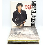 Group Lot of Vinyl Records Including Michael Jackson, Madonna and More