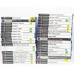 Group Lot of Playstation 2 and Wii Games Including Gran Turismo, Guitar Hero, Fifa and More