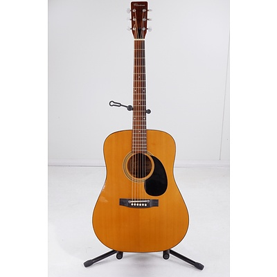 Riviera Steel String Acoustic Guitar with Stand