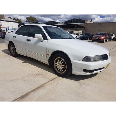 3/2002 Mitsubishi Magna Commonwealth Games LTD ED TJ 4d Sedan White 3.5L