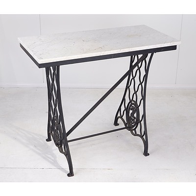 Singer Sewing Table With Marble Top