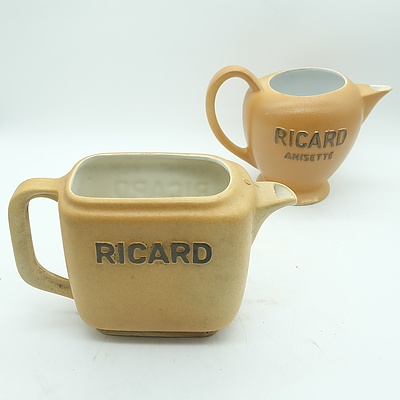 Two French Ricard Anisette Jugs