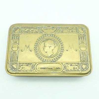 Antique Imperiun Britannicum Brass Christmas Tin 1914