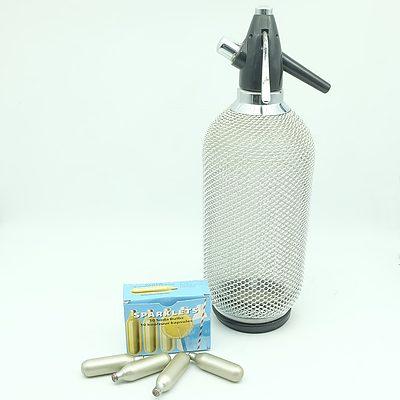 A Retro Soda Siphon and Capsules