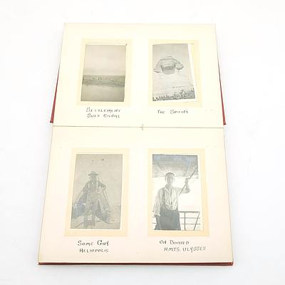 Antique Kodak Military Photo Album With Various Photos of Soldiers in Egypt Circa 1915