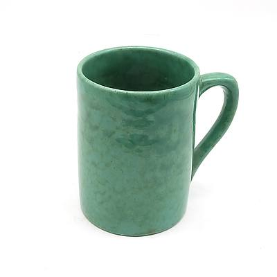 Signed John Campbell Green Ceramic Tankard 1932