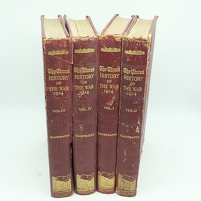 Four Volumes of The Times 'History of the War' Circa 1915