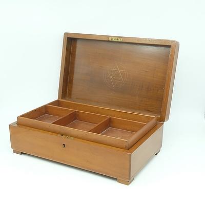 Antique English Maple Writing Box
