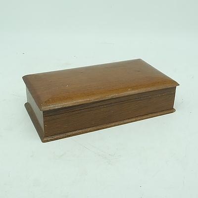Vintage Maple Cigarette Box