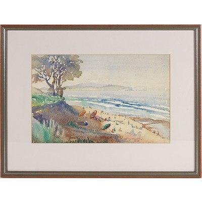 Dorothy Ashton (Dates Unknown) Collaroy Sydney 1938, Watercolour