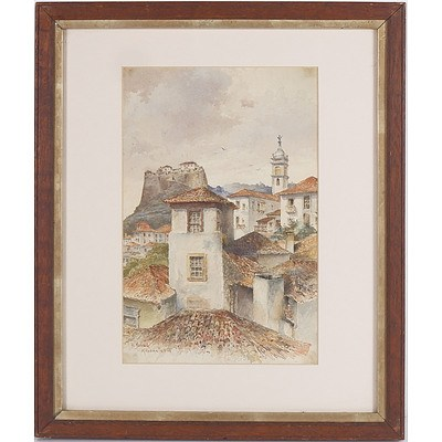 Hans Nowack (Austrian 1866-1918) Madeira, Watercolour