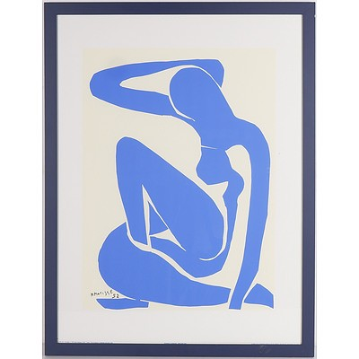 Henri Matisse (1869 - 1954) Nu Bleu I 1952 Silkscreen Print