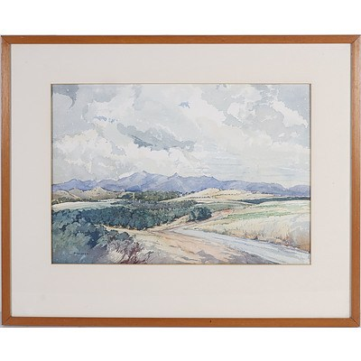 May Marsden (1876-1968) Cotter Road Near Canberra, Watercolour