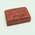 Vintage Chinese Cinnabar Lacquer Box Circa 1960s