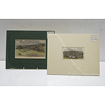 Two Late Victorian Hand Coloured Engravings, Armidale and Berwick