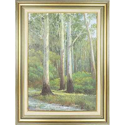 Murray Bishop (1919-) Tall Timbers of the Grampians (Victoria) Oil on Board
