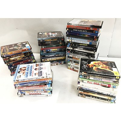 DVD & Blu-Ray Movies, TV Series & Music - Lot of Approx 80