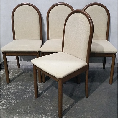 Golden Oak Bentwood Dining Chairs - Lot of Four