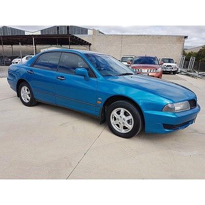 2/2003 Mitsubishi Magna Advance TJ 4d Sedan Blue 3.5L