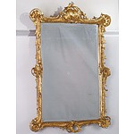 A Fine French Louis XV Giltwood and Moulded Gesso Mirror, Late 18th Century