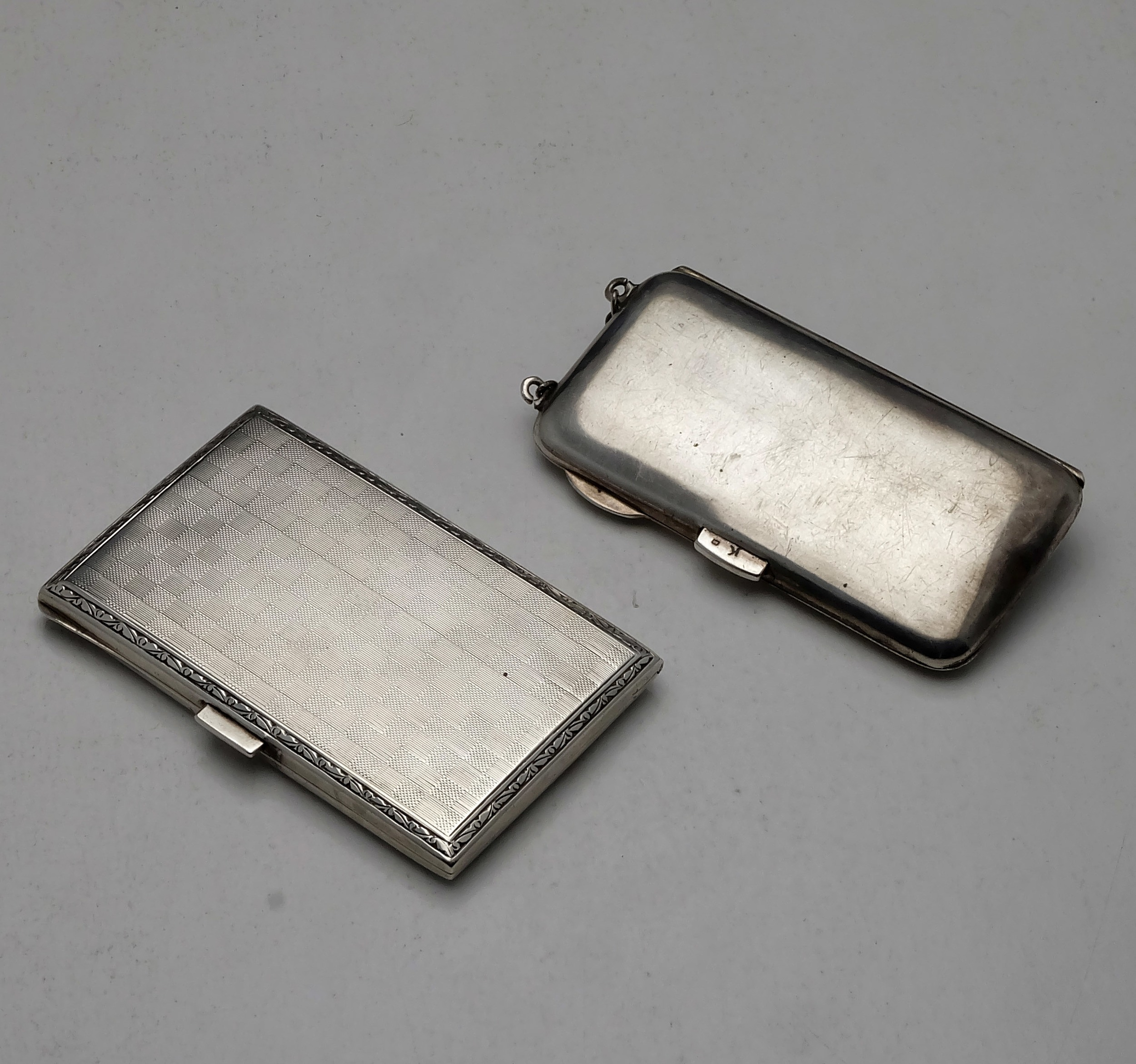 'Two Sterling Silver Cigarette Cases, Including Birmingham 1914 109g'
