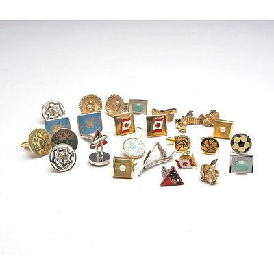 Twelve Pairs of Gents Cufflinks,
