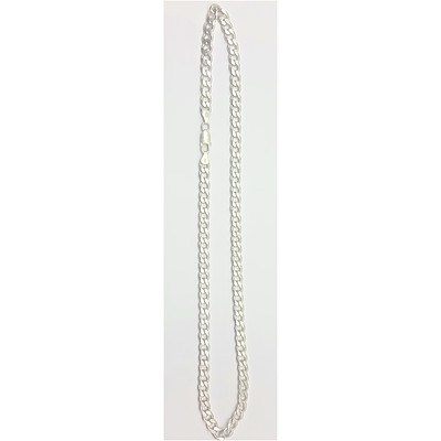 Sterling Silver Flat Curb Link Necklace