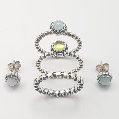 Genuine Pandora Rings and Earrings