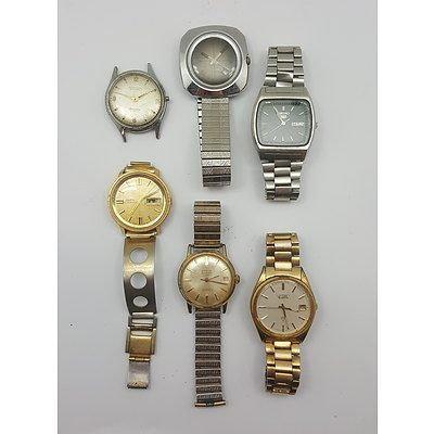 Assorted Mens Watches including Seiko and Vintage Manual Winders