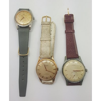 Three Vintage 1960's Manual Wind Wrist Watches- All Running