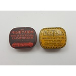 Old Cats Whisker Wireless Crystal Tins - Mighty Atom and Neutron