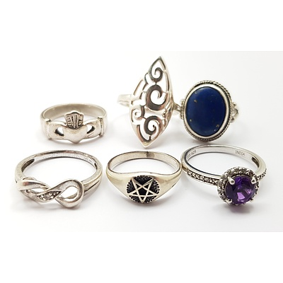 Quantity of Assorted Sterling Silver Rings