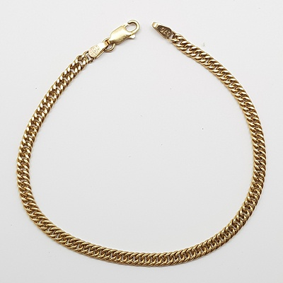 9ct Yellow Gold Herringbone Link Bracelet
