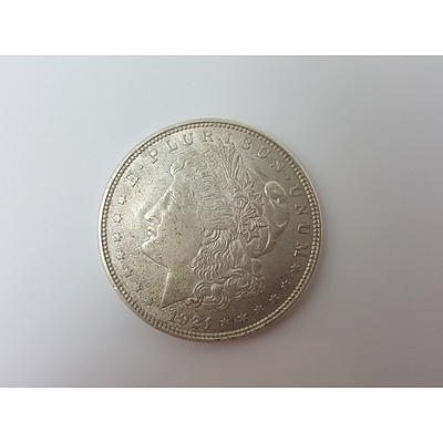 1921 United States of America Silver Morgan Dollar