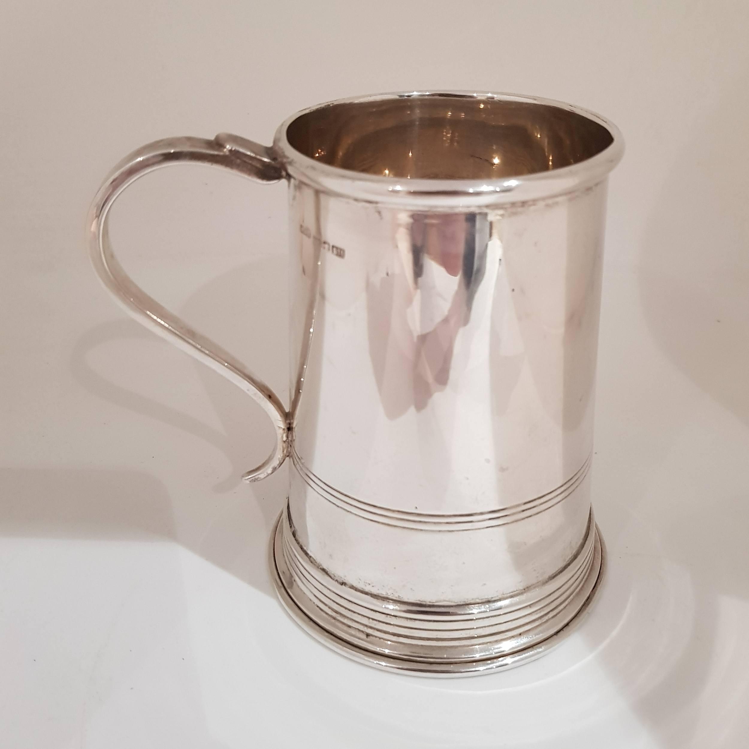 'Australian Sterling Silver Tankard - W.J. Sanders (1885-1946), Sydney, Australia Circa 1914-1942'