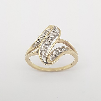 10ct Yellow Gold and Diamond Ring