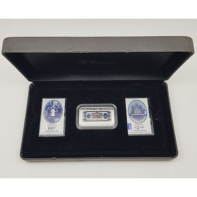 100th Anniversary of Australia's First Banknote 1oz Silver Proof Coin and Stamp Set, Limited Edition of 3000 made