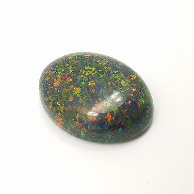 Solid Black Opal Matrix