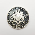 1983 Sterling Silver Barbados $25 Proof Coin for the 30th Anniversary of QEII Coronation