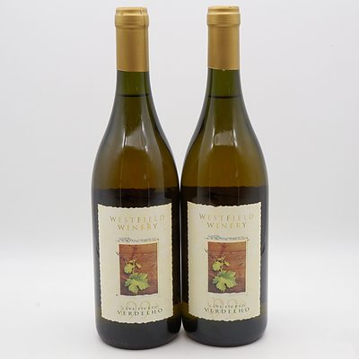 Two Bottles of Westfield Winery 1999 Late Picked Verdelho 750mL