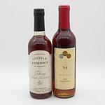 Miranda 1998 Golden Botrytis 375mL and Cofield Anderson Tokay Late Harvest 1991
